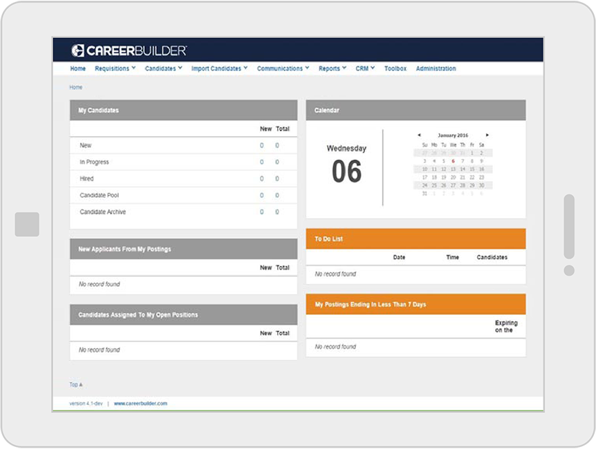 CareerBuilder Applicant Tracking Product Screenshot  Career Builder Resumes