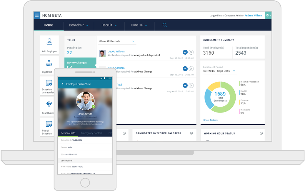 CareerBuilder Human Capital Management Product Screenshot  Career Builder Resumes