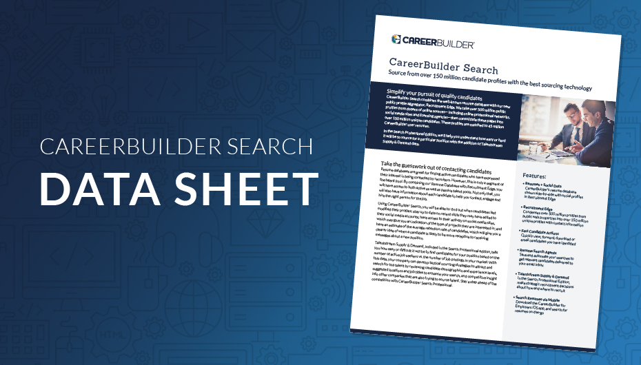 Download The Data Sheet: Resume Database  Careerbuilder Resume Search