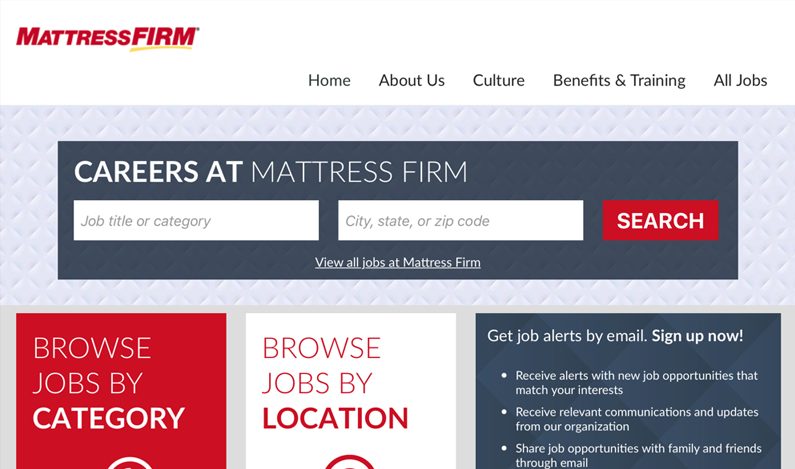 Mattress Firm Sample Image